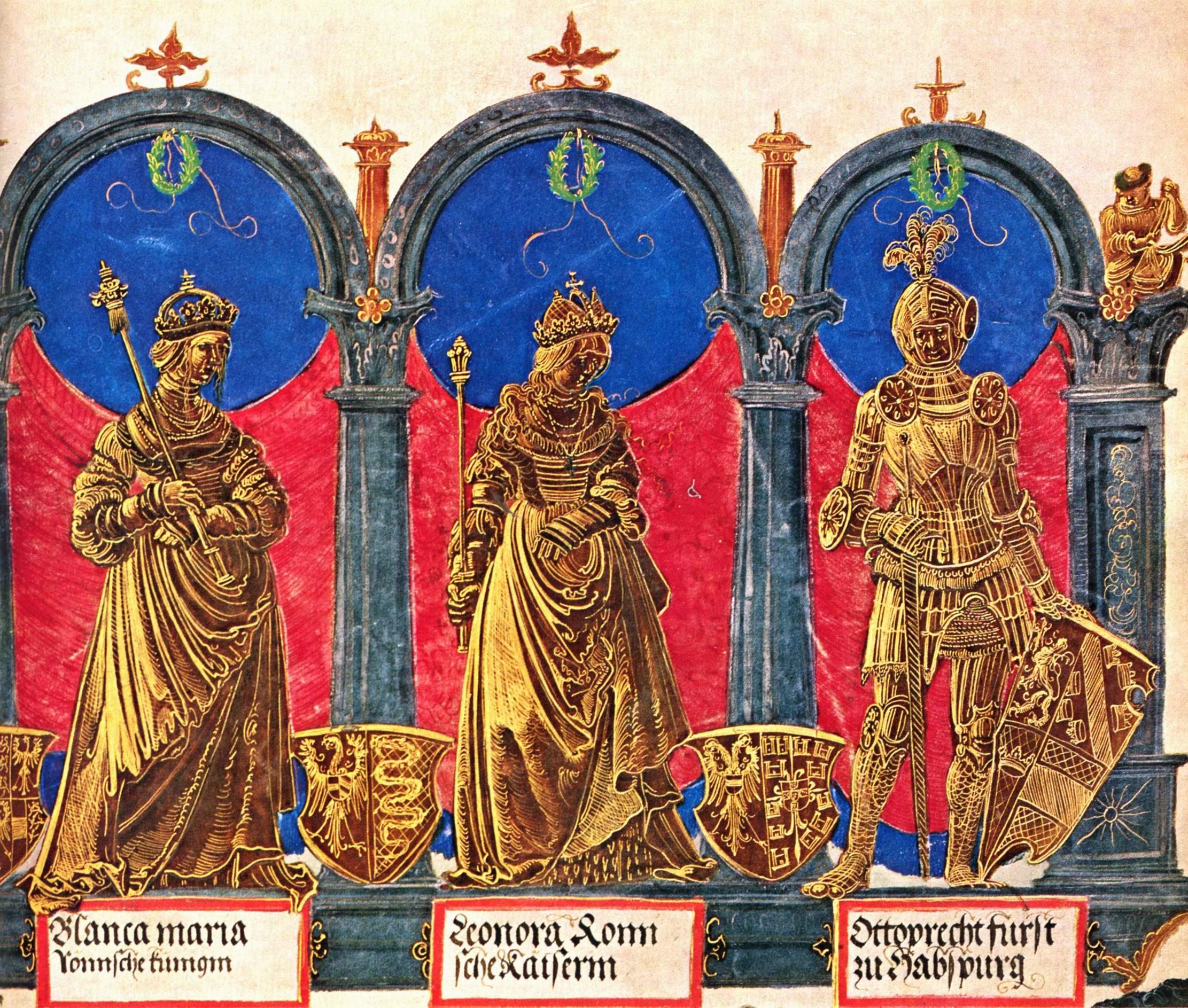 Триумфальное шествие Максимилиана  предки императора., Альтдорфер Альбрехт