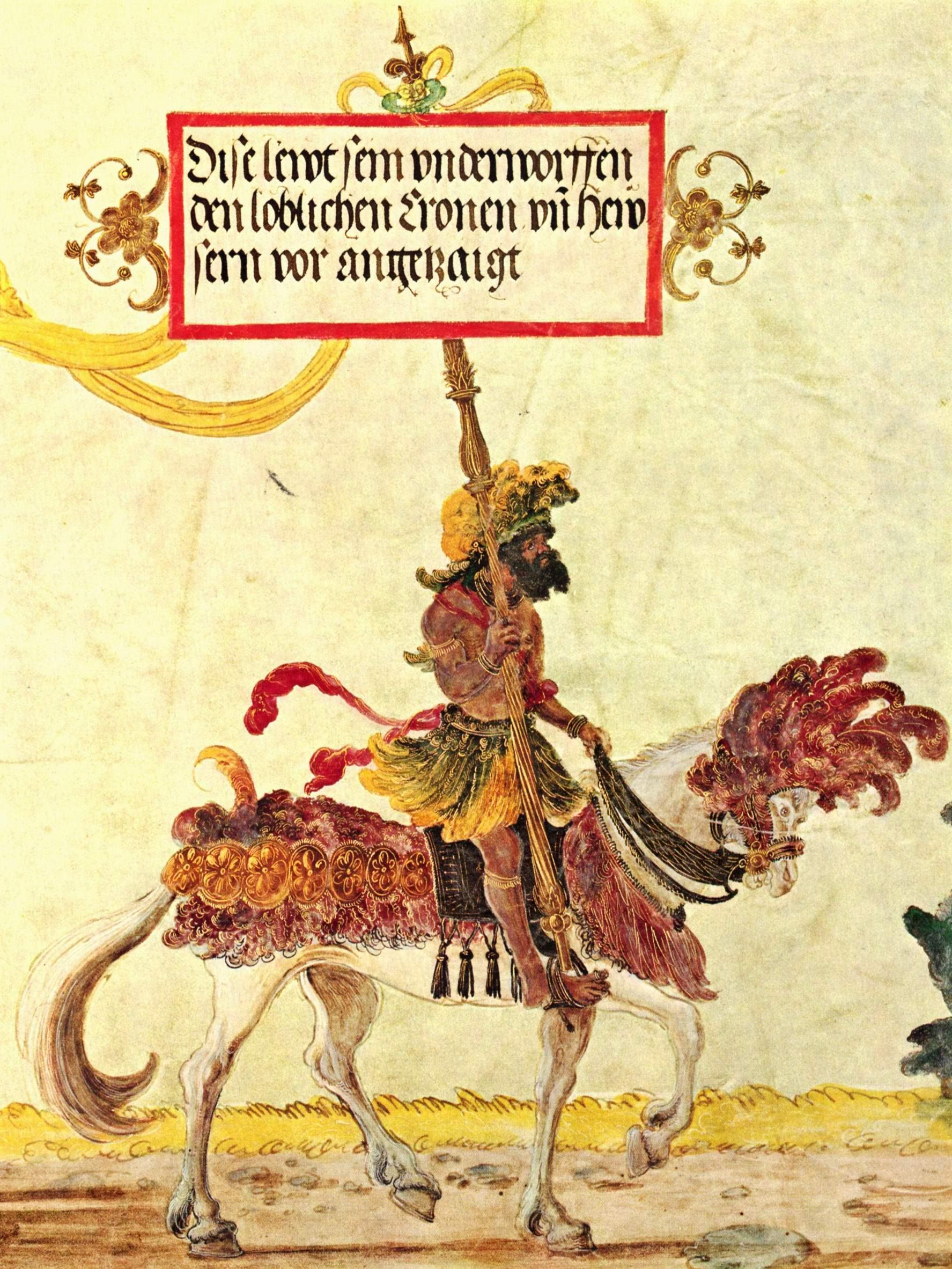 Триумфальное шествие императора Максимилиана, Жители Калькутты., Альтдорфер Альбрехт