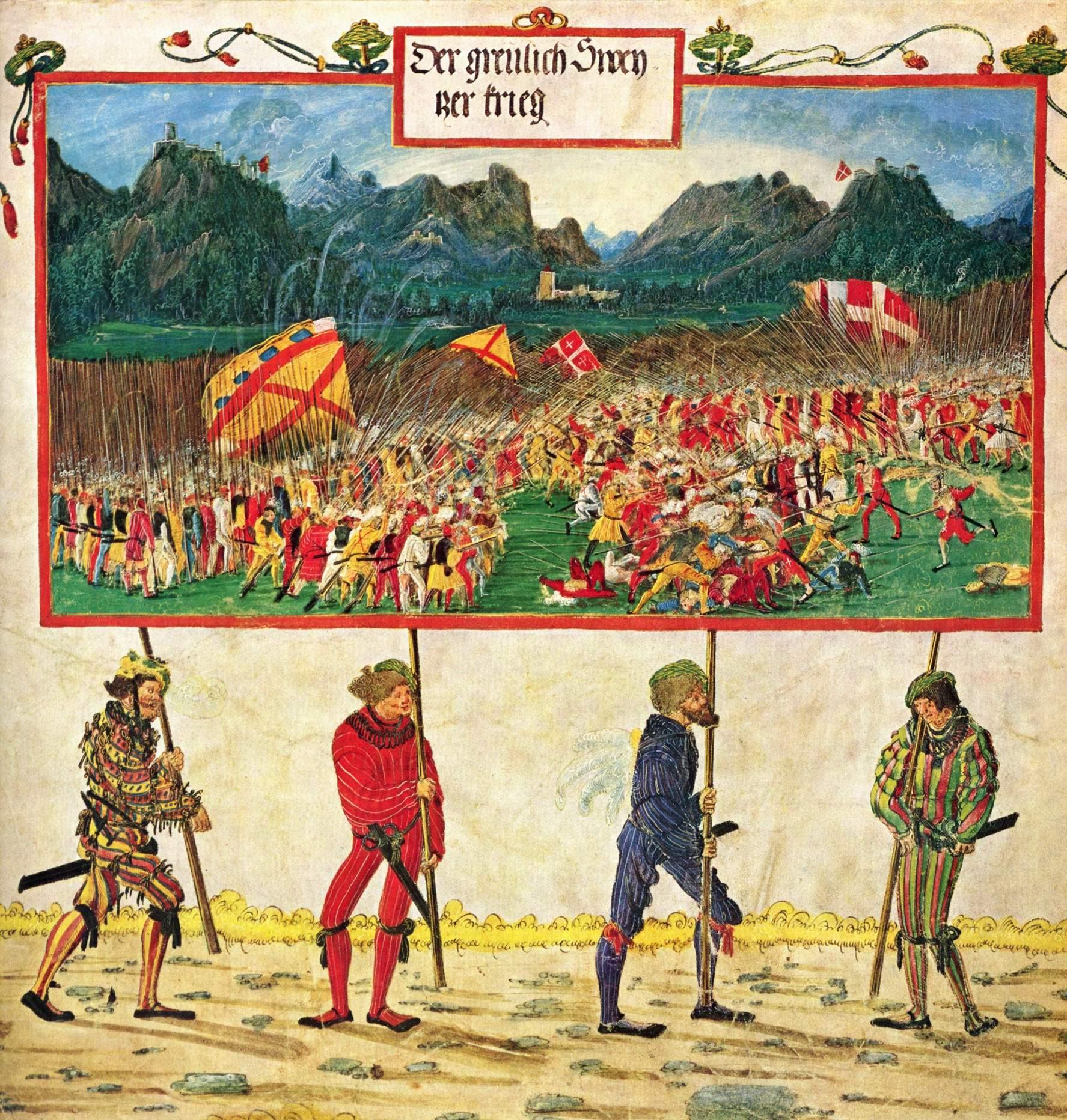Триумфальное шествие императора Максимилиана, Швейцарский поход, Альтдорфер Альбрехт