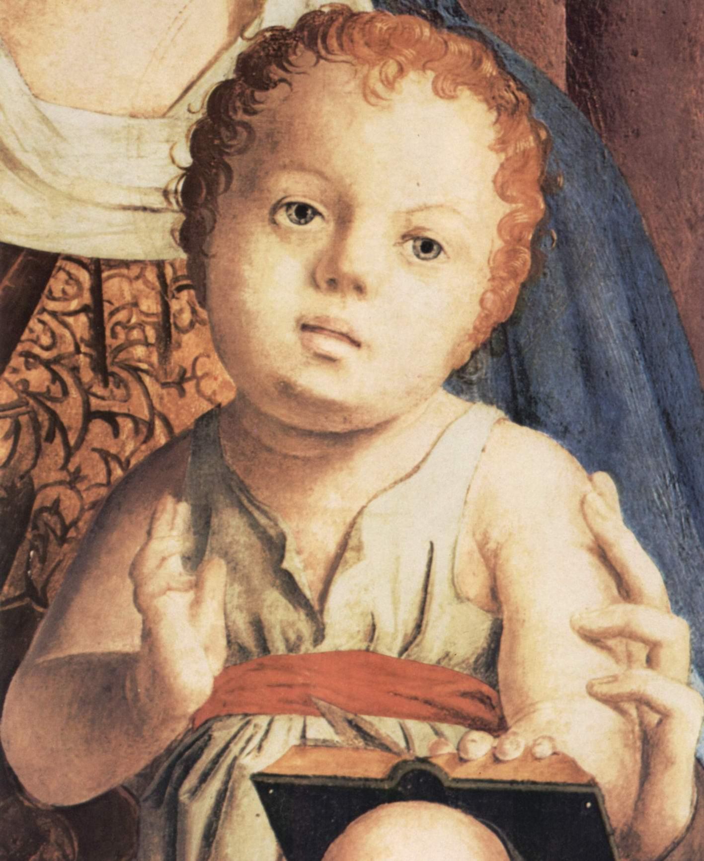 Мадонна на троне, фрагмент, Pala di San Cassiano, Венеция. Деталь, Антонелло да Мессина