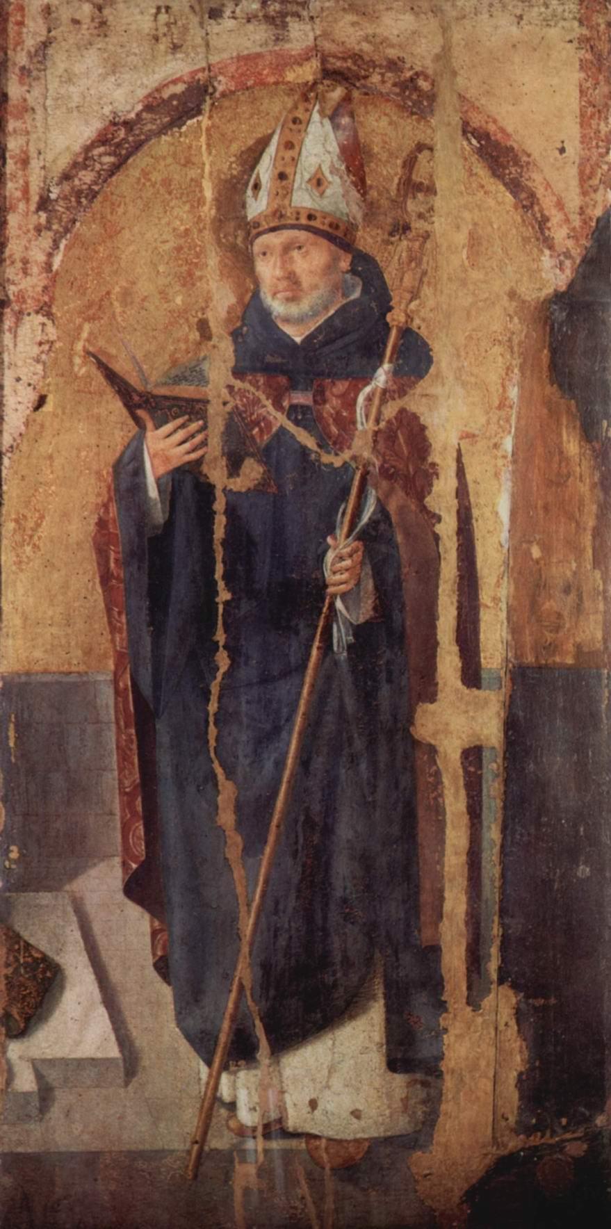 Полиптих св. Григория, правая доска, св. Бенедикт, Антонелло да Мессина