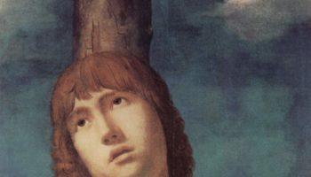 Св. Себастьян. Деталь  голова святого