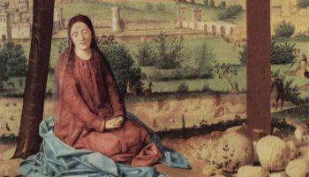 Распятие, Мария и Иоанн. Деталь  Мария