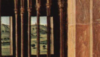 Св. Иероним в хижине. Деталь