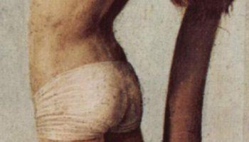 Распятие, Мария и Иоанн. Деталь  разбойник на кресте
