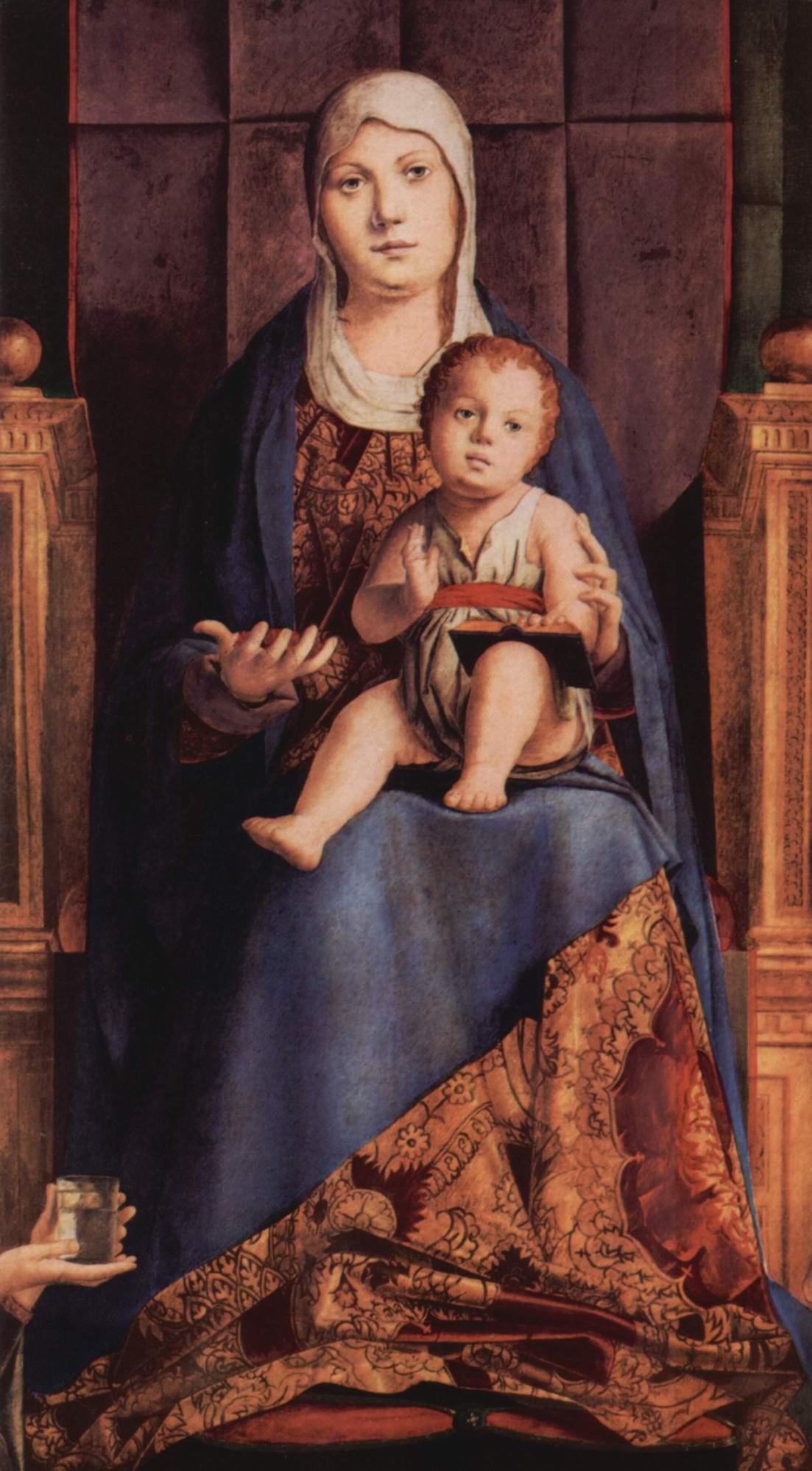 Мадона на троне, фрагмент, Pala di San Cassiano, Венеция, Антонелло да Мессина