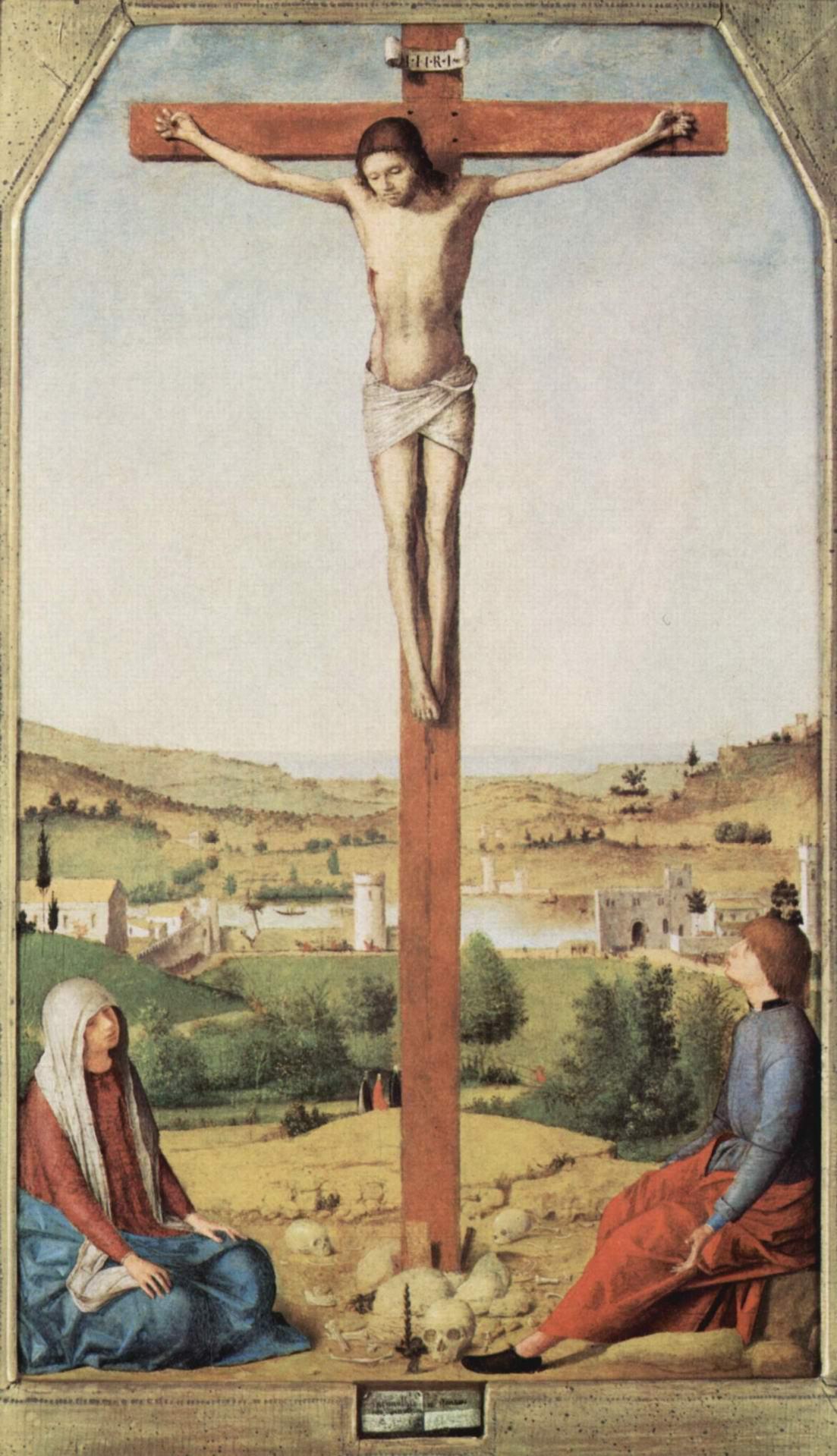 Распятие, Мария и Иоанн, Антонелло да Мессина