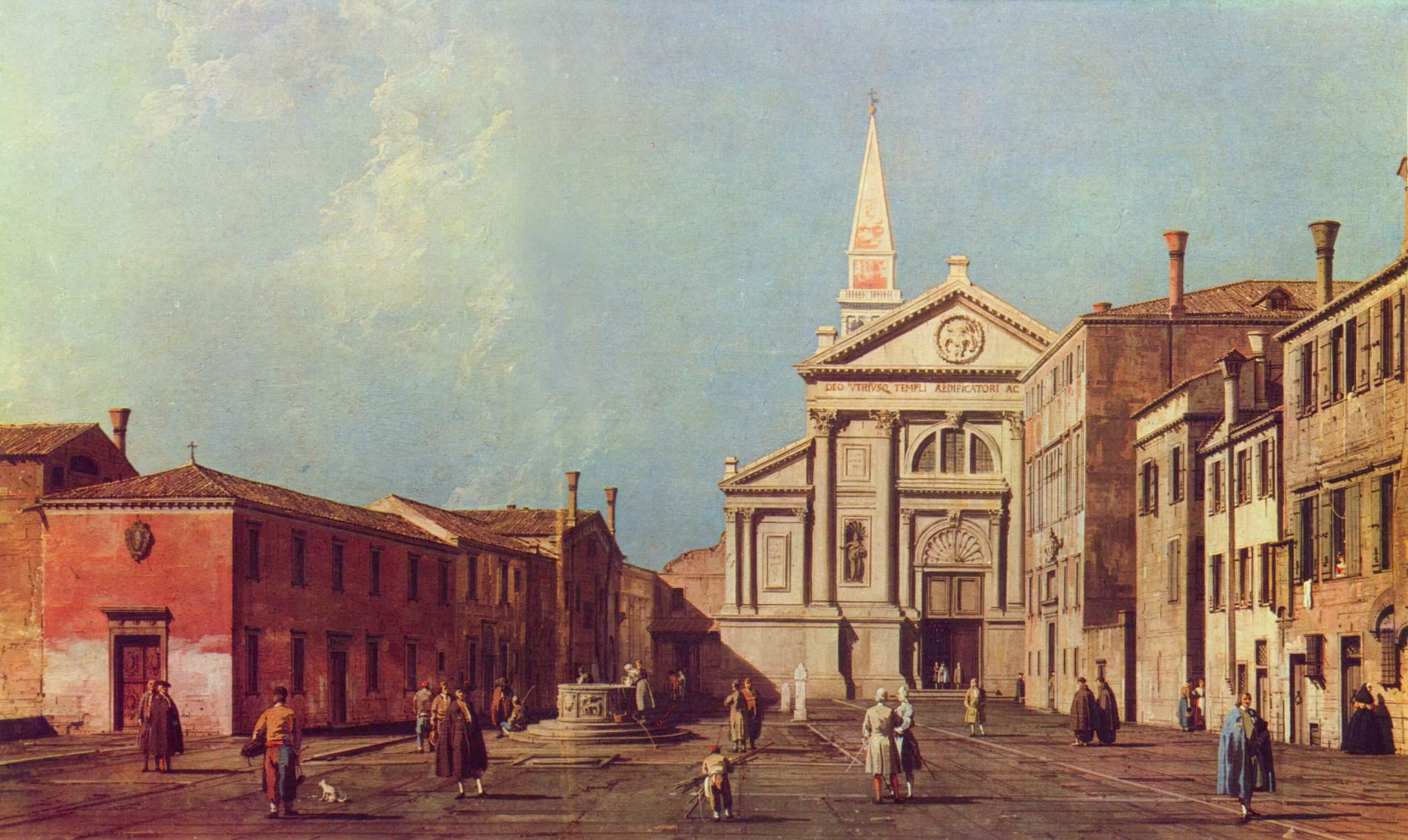 Площадь и церковь иезуитов, Антонио Каналетто 2
