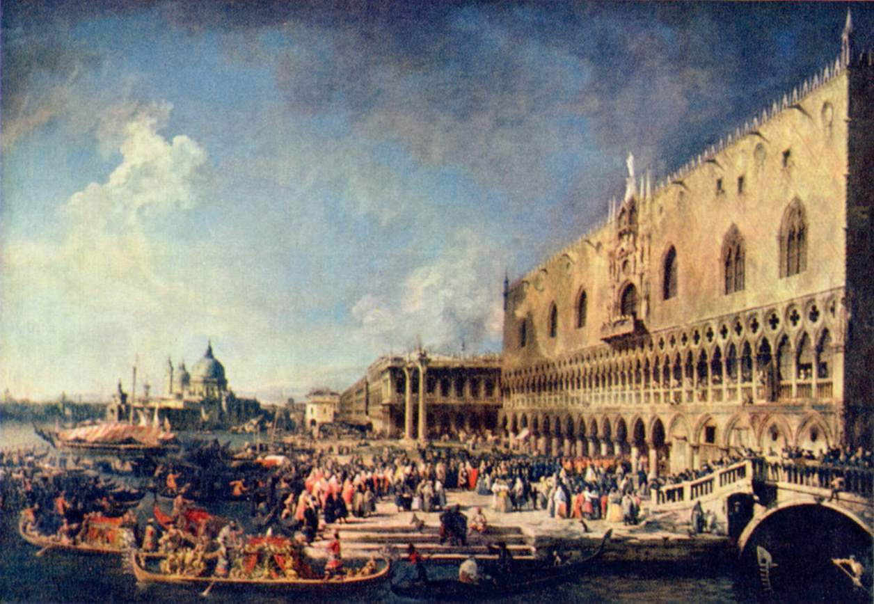 Приём французского посланника в Венеции, Антонио Каналетто 2