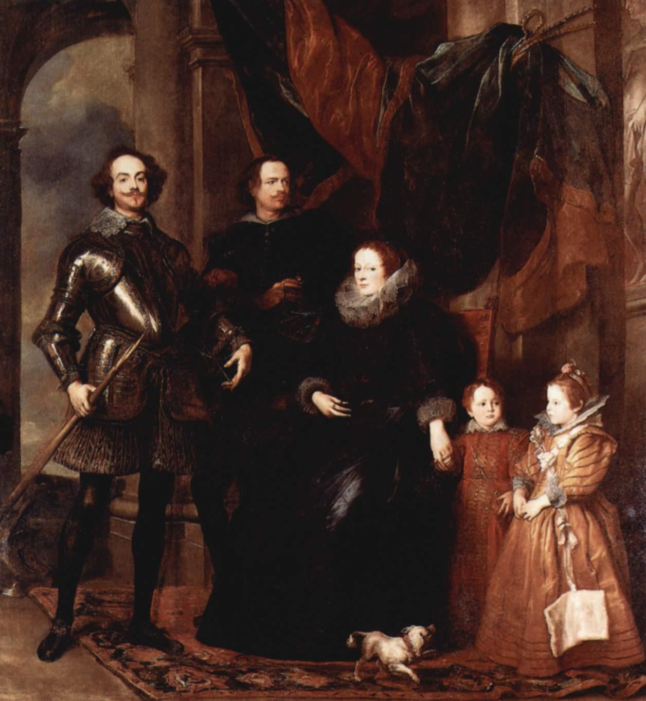 Портрет семьи Ломеллини, Антонис ван Дейк