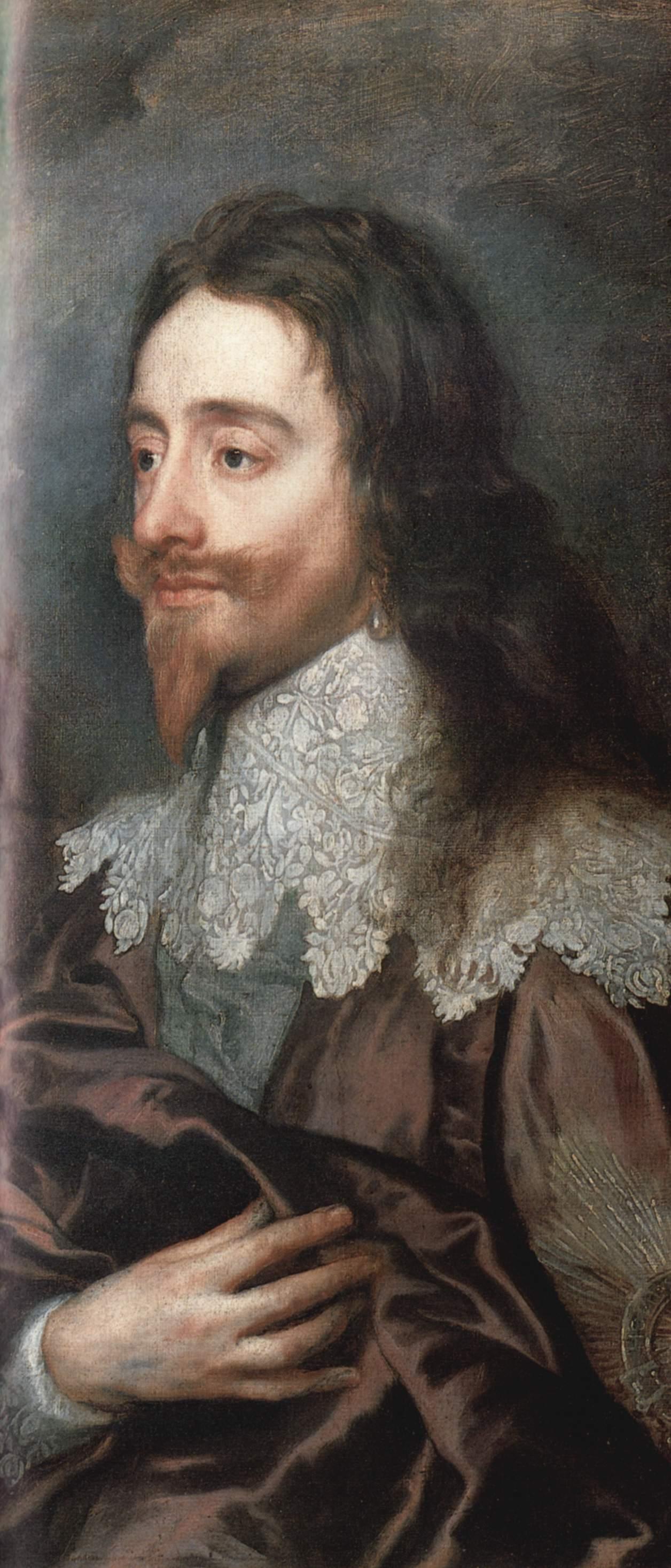 Портрет Карла Первого, короля Англии. Деталь, Антонис ван Дейк