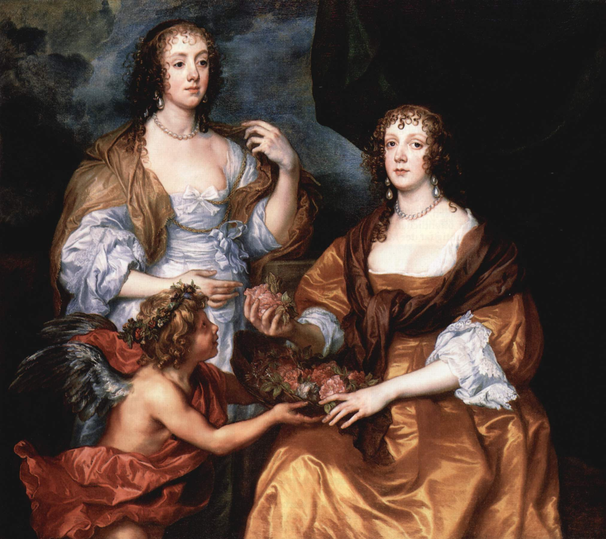 Портрет леди Элизабет Тимблиби и виконтессы Доротеи Андовер, Антонис ван Дейк