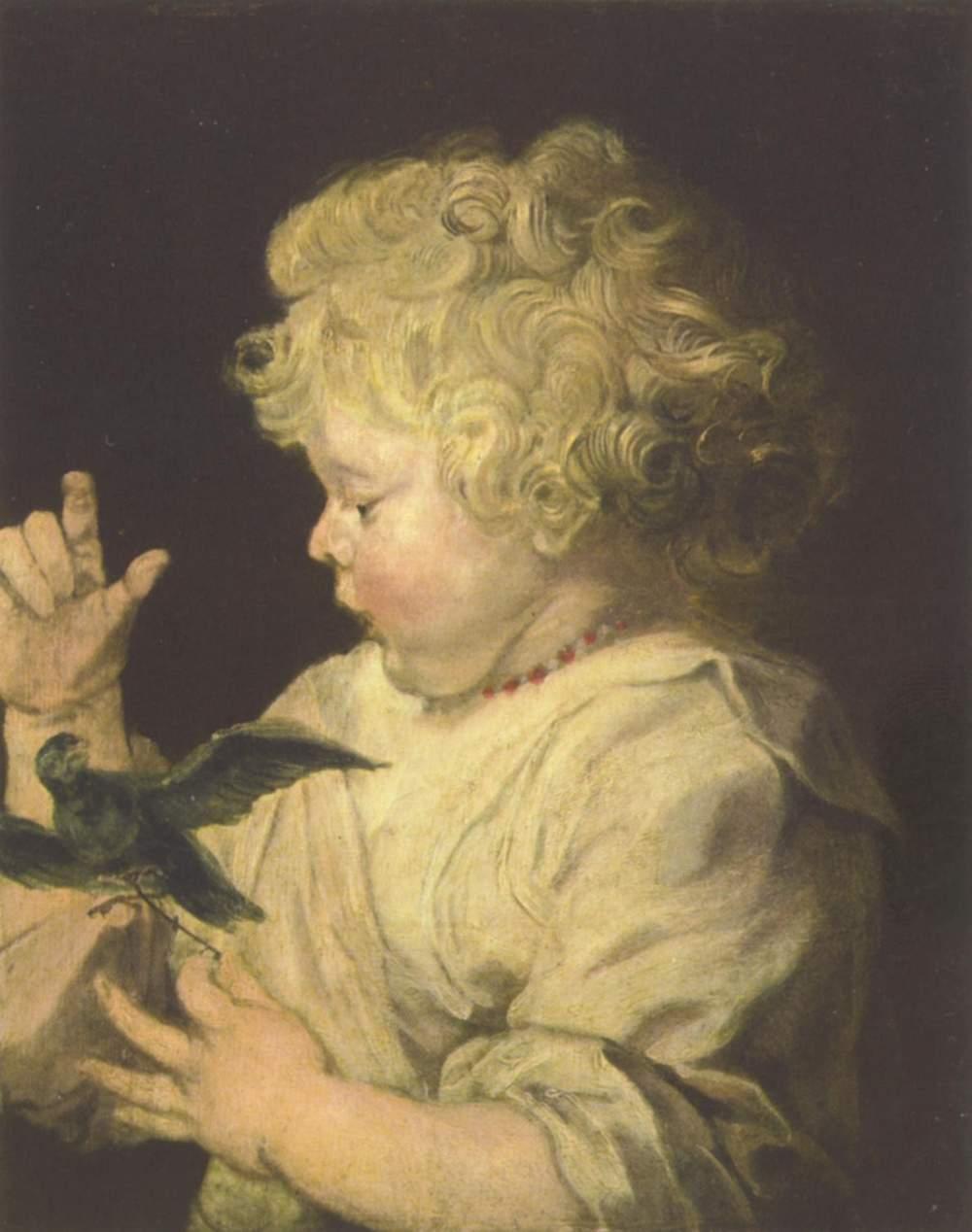 Портрет ребёнка с птицей, Антонис ван Дейк