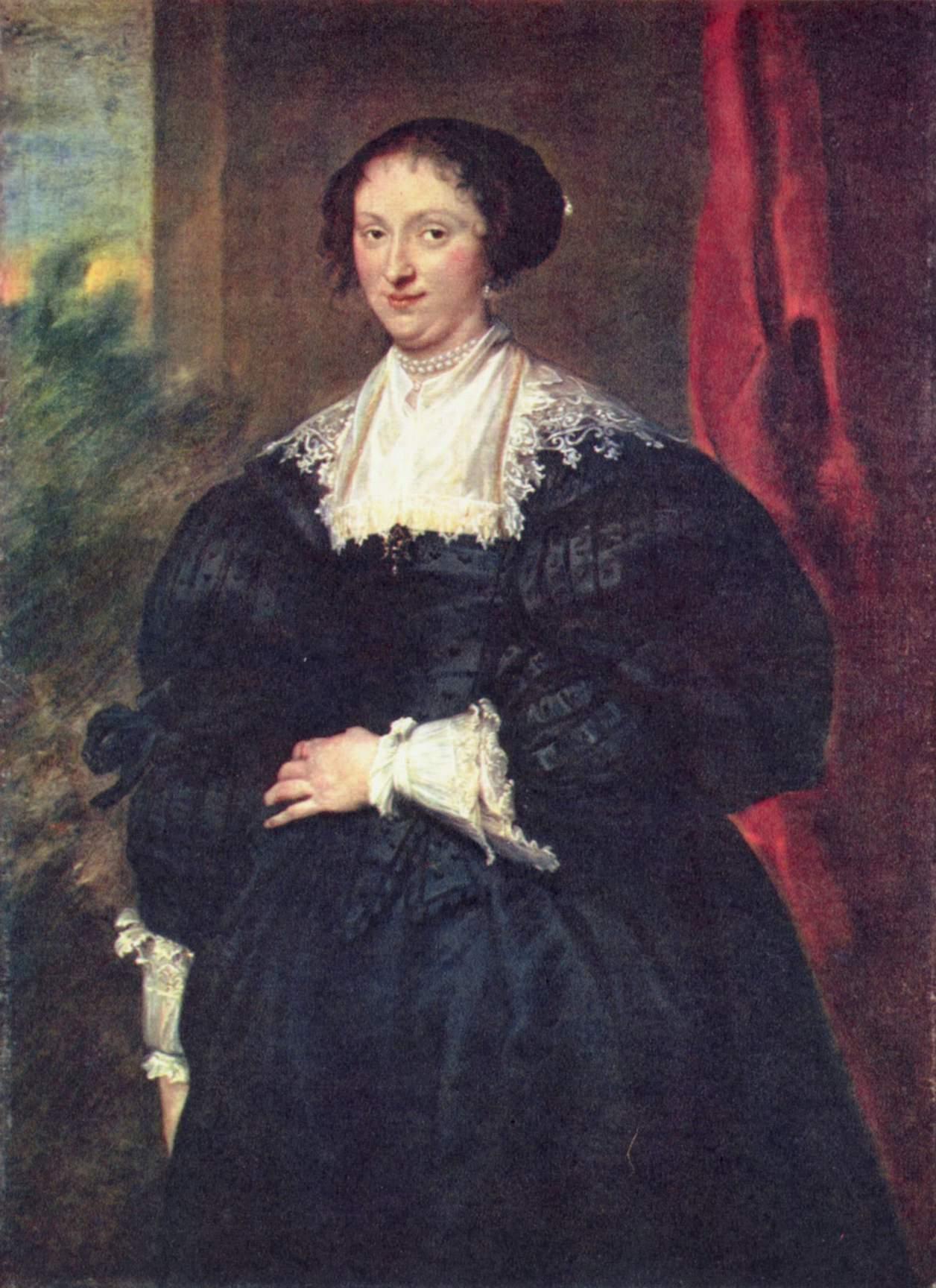 Портрет дамы в черном, Антонис ван Дейк