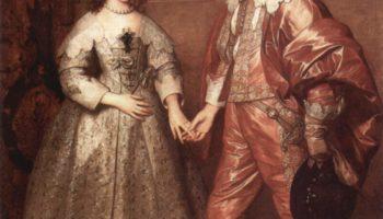 Портрет Вильгельма Оранского с его невестой Марией Стюарт