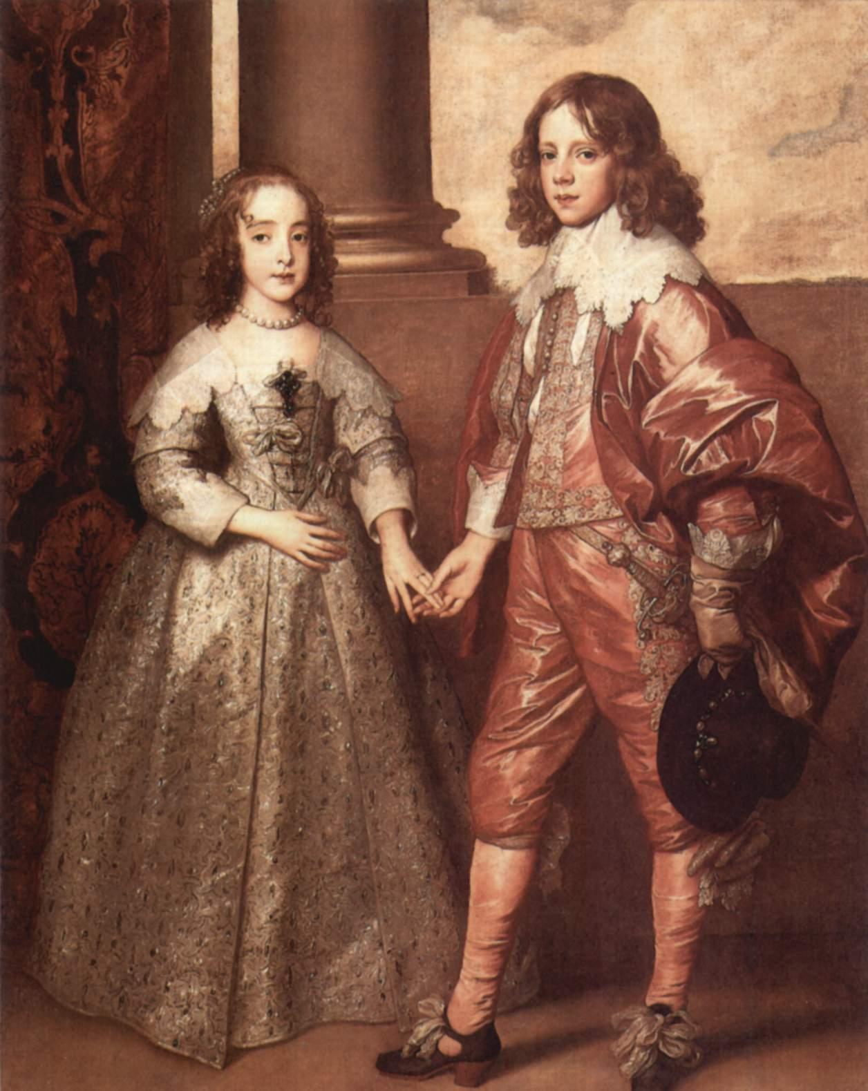 Портрет Вильгельма Оранского с его невестой Марией Стюарт, Антонис ван Дейк