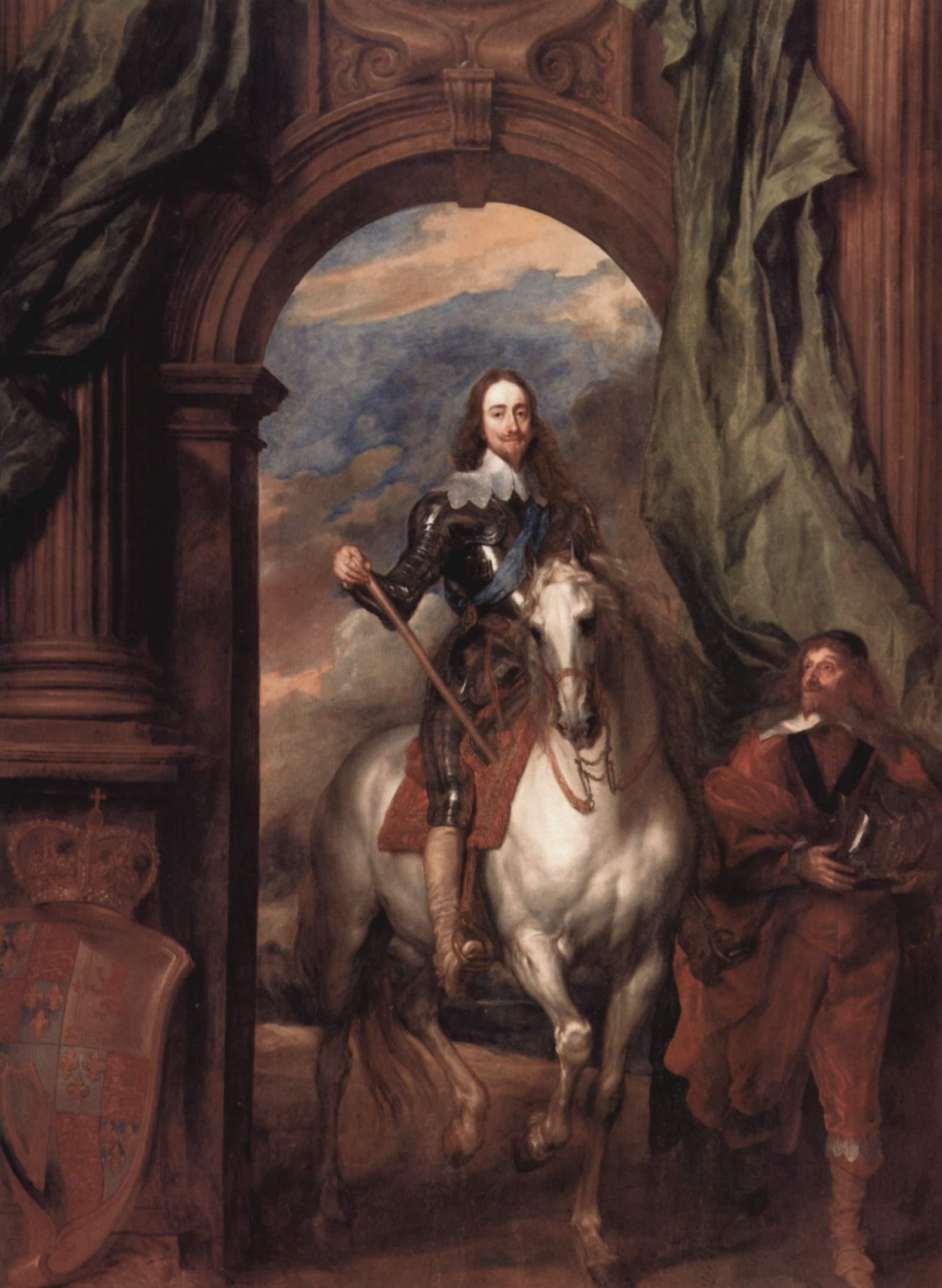 Конный портрет Карла Первого, короля Англии с его шталмейстером Сен-Антуаном, Антонис ван Дейк