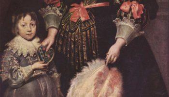 Портрет Шарлотты Баткинс, леди Аной, с сыном