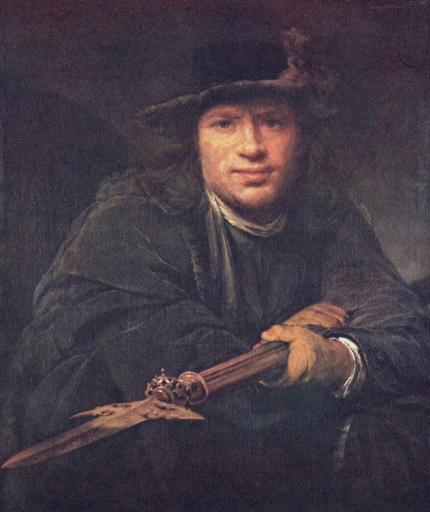 Портрет мужчины с алебардой, Арт де Гелдер