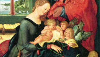 Святое семейство в комнате с пятью ангелами