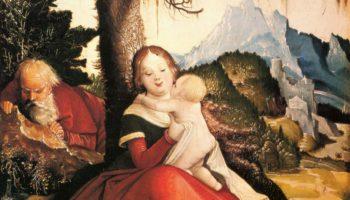 Святое семейство под открытым небом