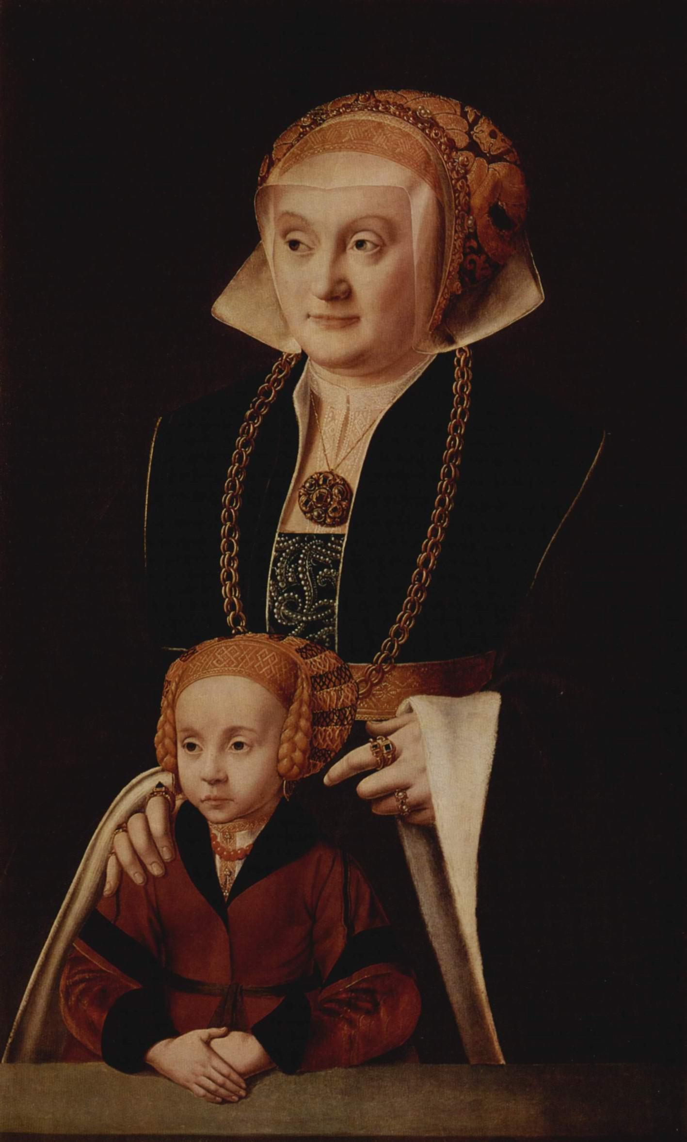 Портрет дамы с дочерью, Бартоломей Бруйн Старший