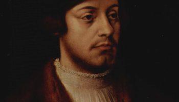 Портрет мужчины с тремя сыновьями. Деталь