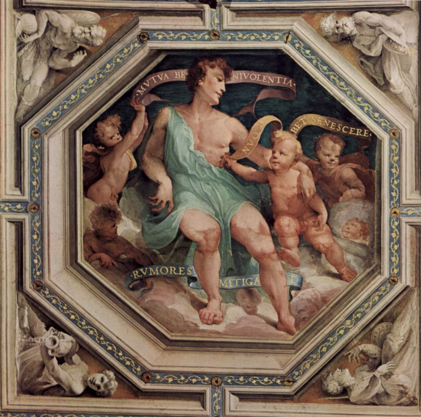 Аллегорический цикл фресок (Политические добродетели) из Палаццо Пубблико в Сиене. Аллегория Согласия (Concordia), Беккафуми Доменико