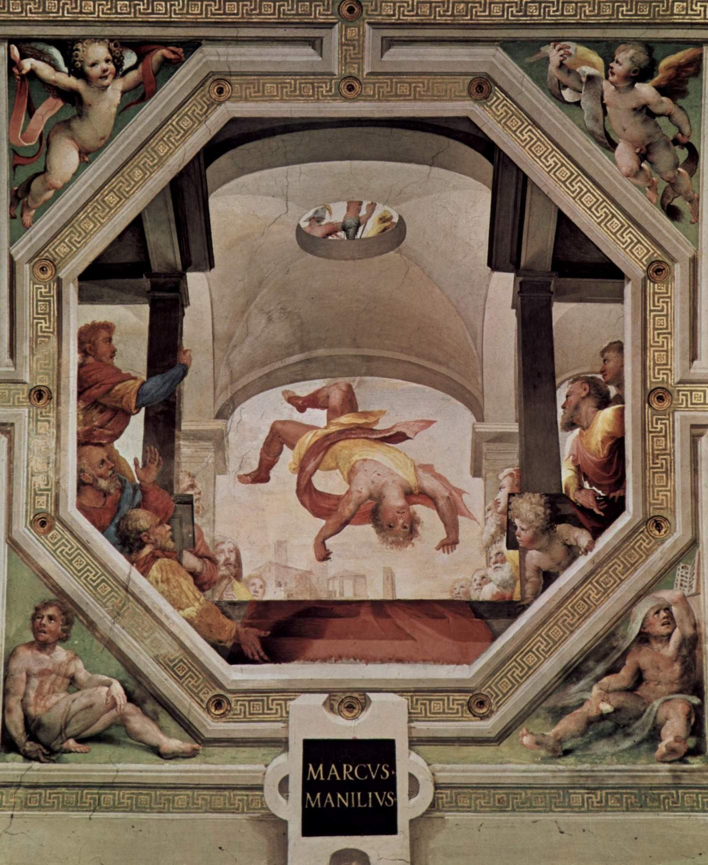 Аллегорический цикл фресок (Политические добродетели) из Палаццо Пубблико в Сиене. Падение Марка Манилия, Беккафуми Доменико