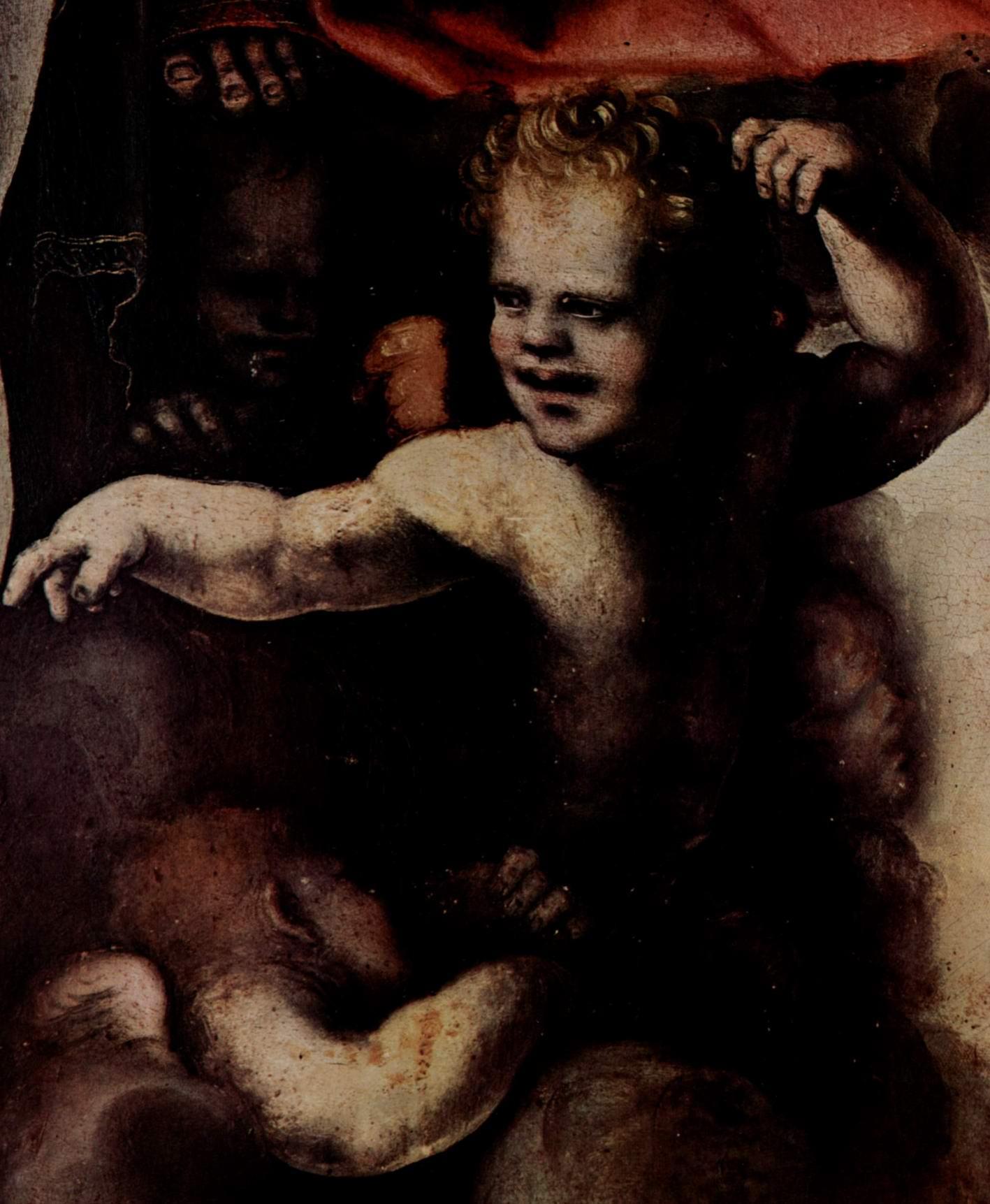 Триптих Троицы, центральная створка. Деталь  Ангел, Беккафуми Доменико