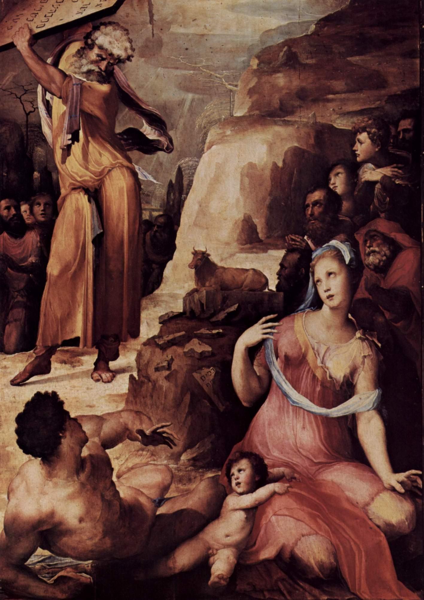 Моисей разбивает скрижали Завета, Беккафуми Доменико