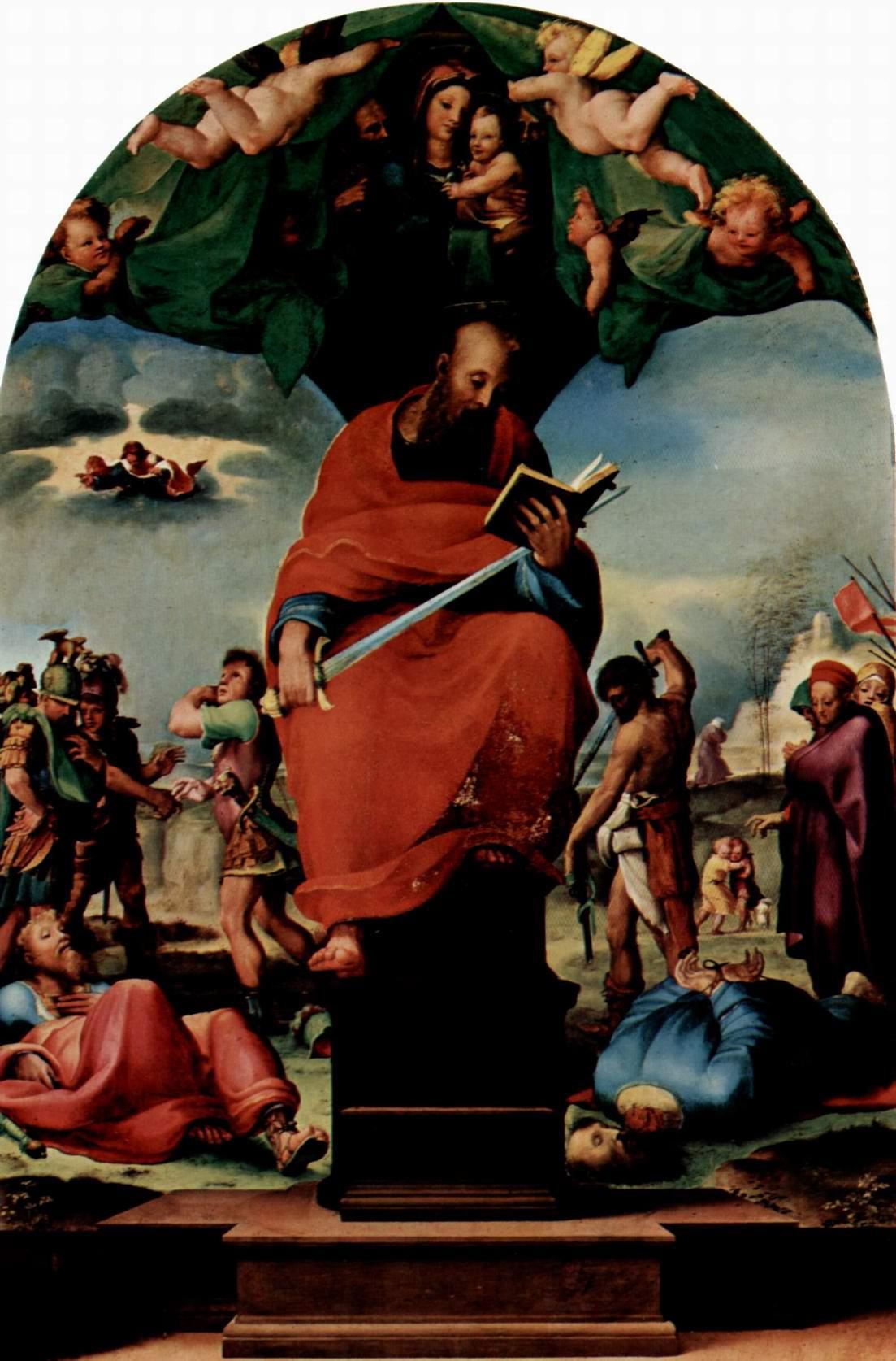 Святой Павел на троне, картина для алтаря, Беккафуми Доменико