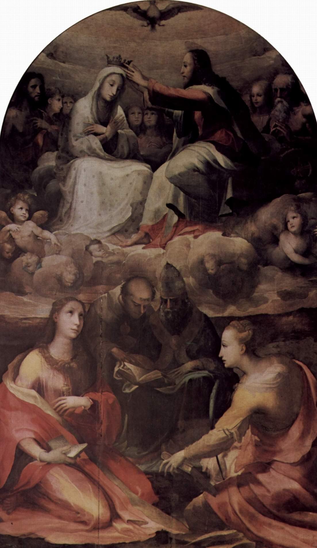 Коронование Марии со святыми, Беккафуми Доменико