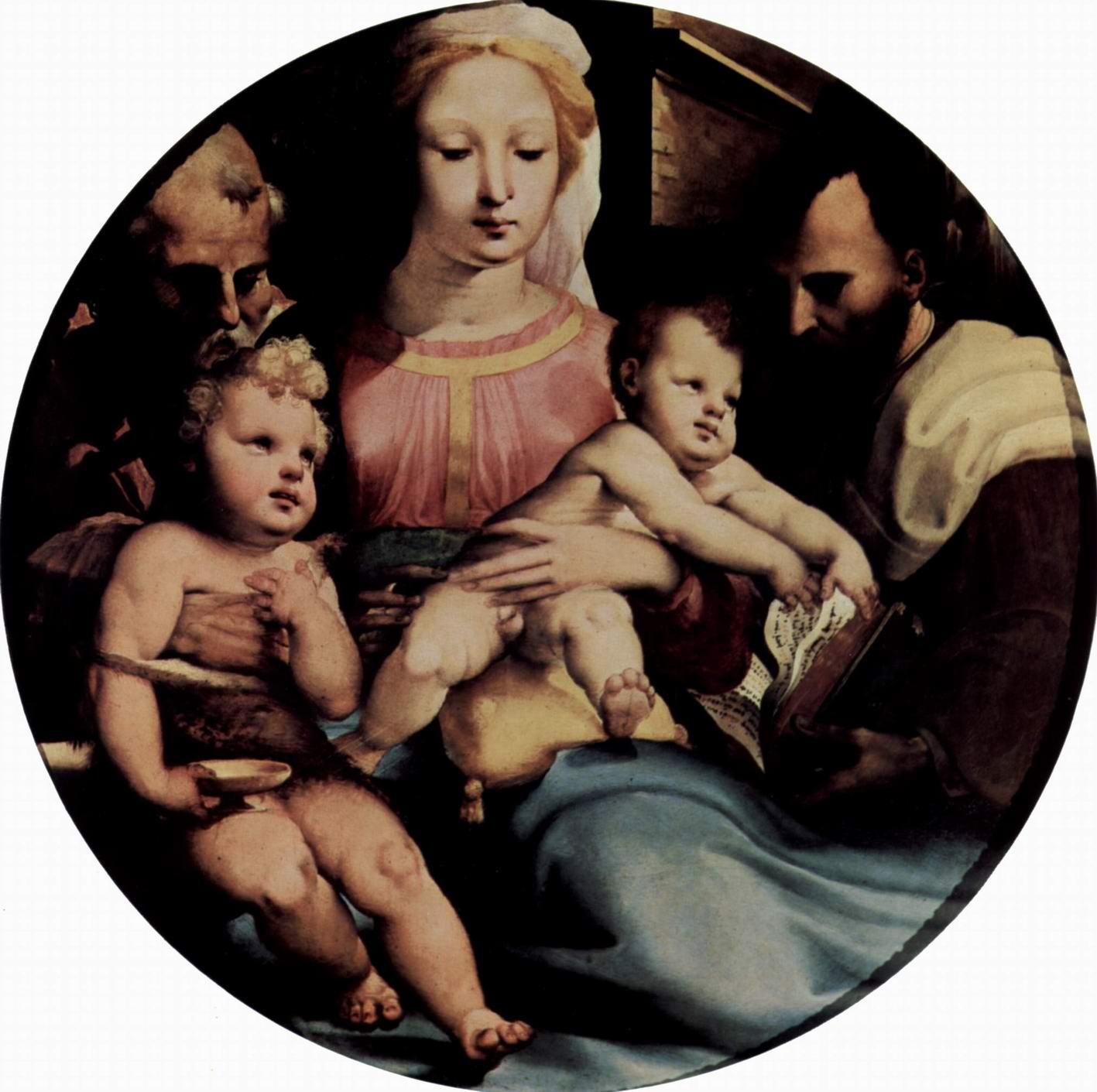 Святое семейство с Иоанном Крестителем и донатором, Беккафуми Доменико