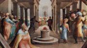 Фрески палаццо Бинди Сегарди, Мужественный македонский юноша, присутствовавший при жертвоприношении Александра