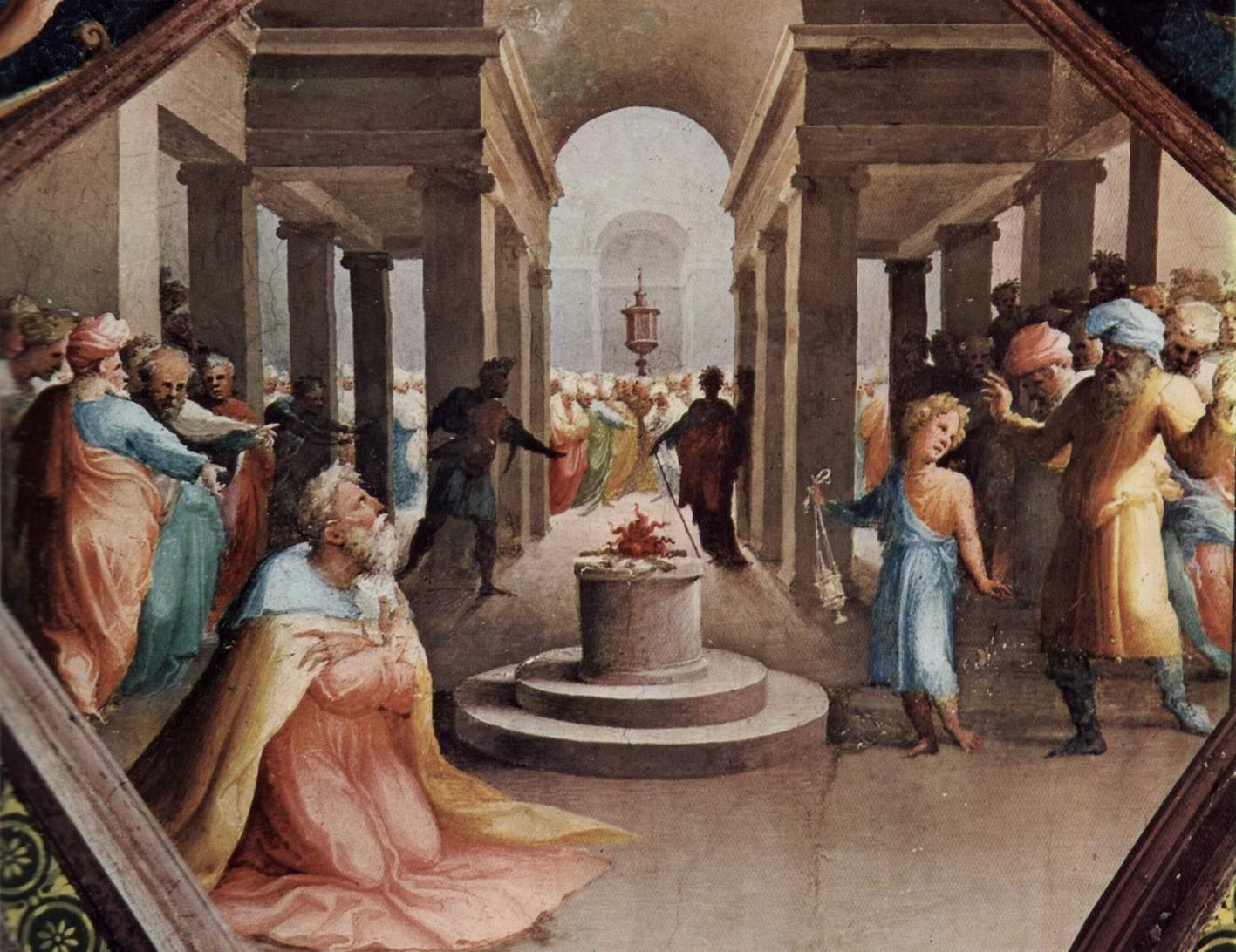 Фрески палаццо Бинди Сегарди, Мужественный македонский юноша, присутствовавший при жертвоприношении Александра, Беккафуми Доменико