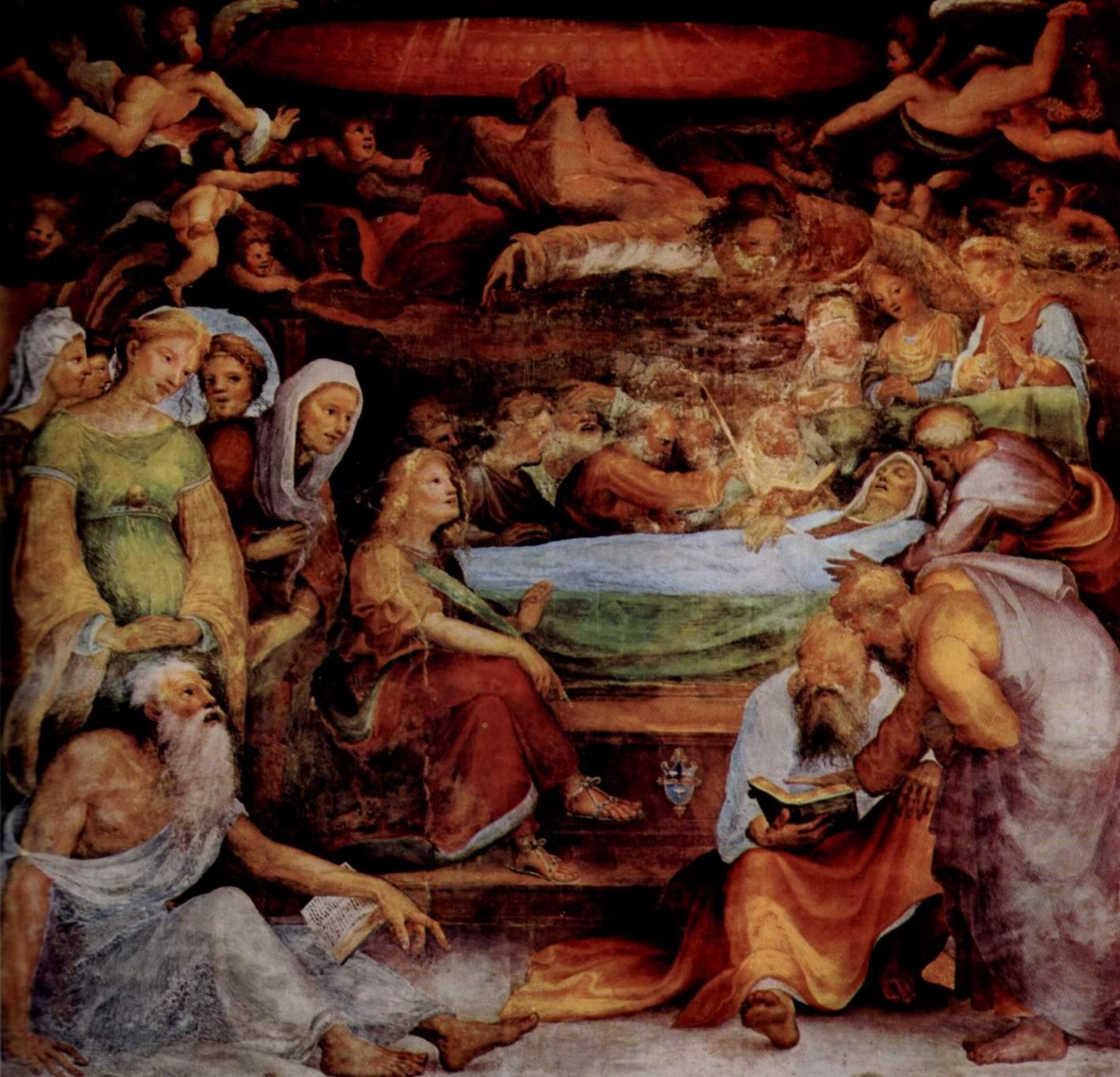 Фрески в капелле св. Бенедикта в Сиене, Смерть Марии, Беккафуми Доменико