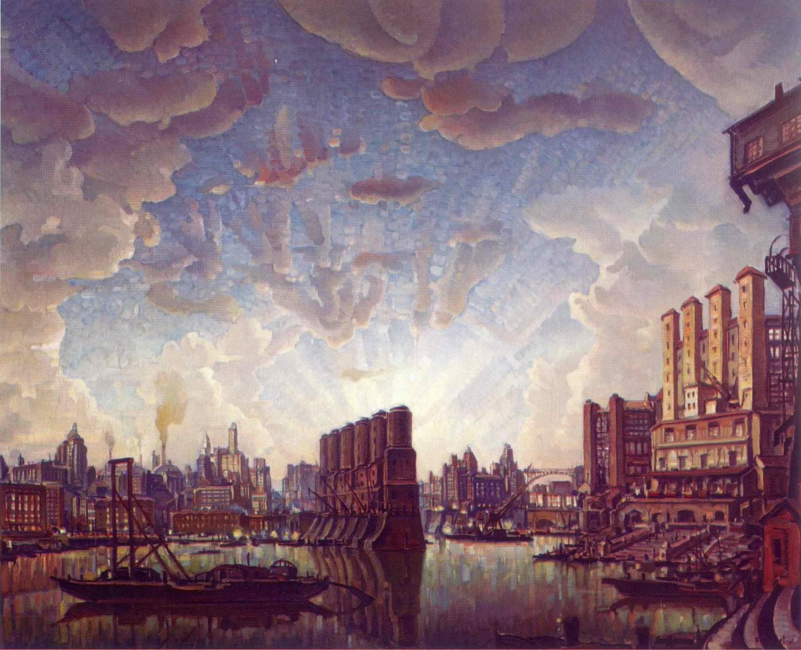 Порт воображаемого города, Богаевский Константин Федорович