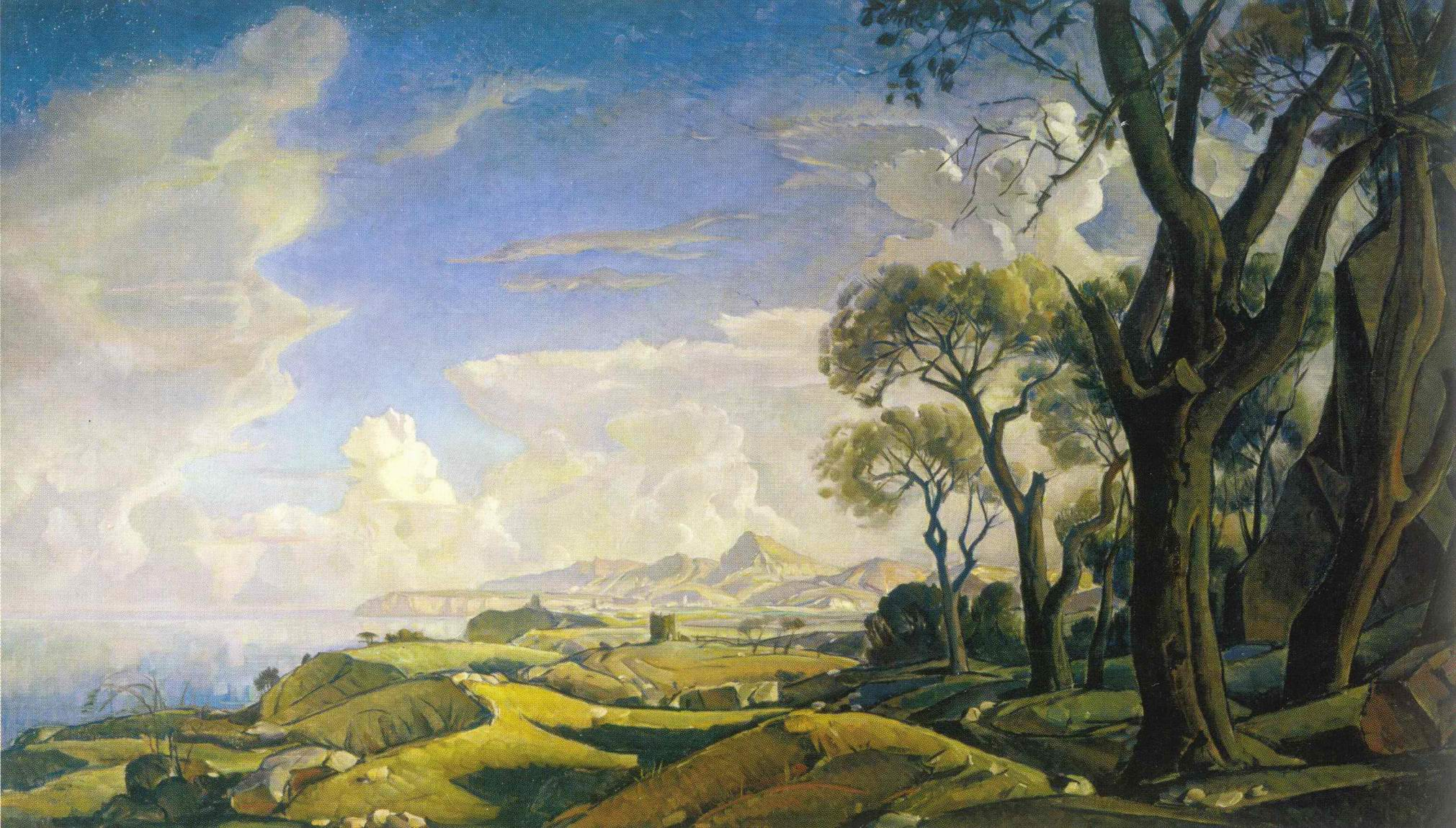 Пейзаж с деревьями, Богаевский Константин Федорович