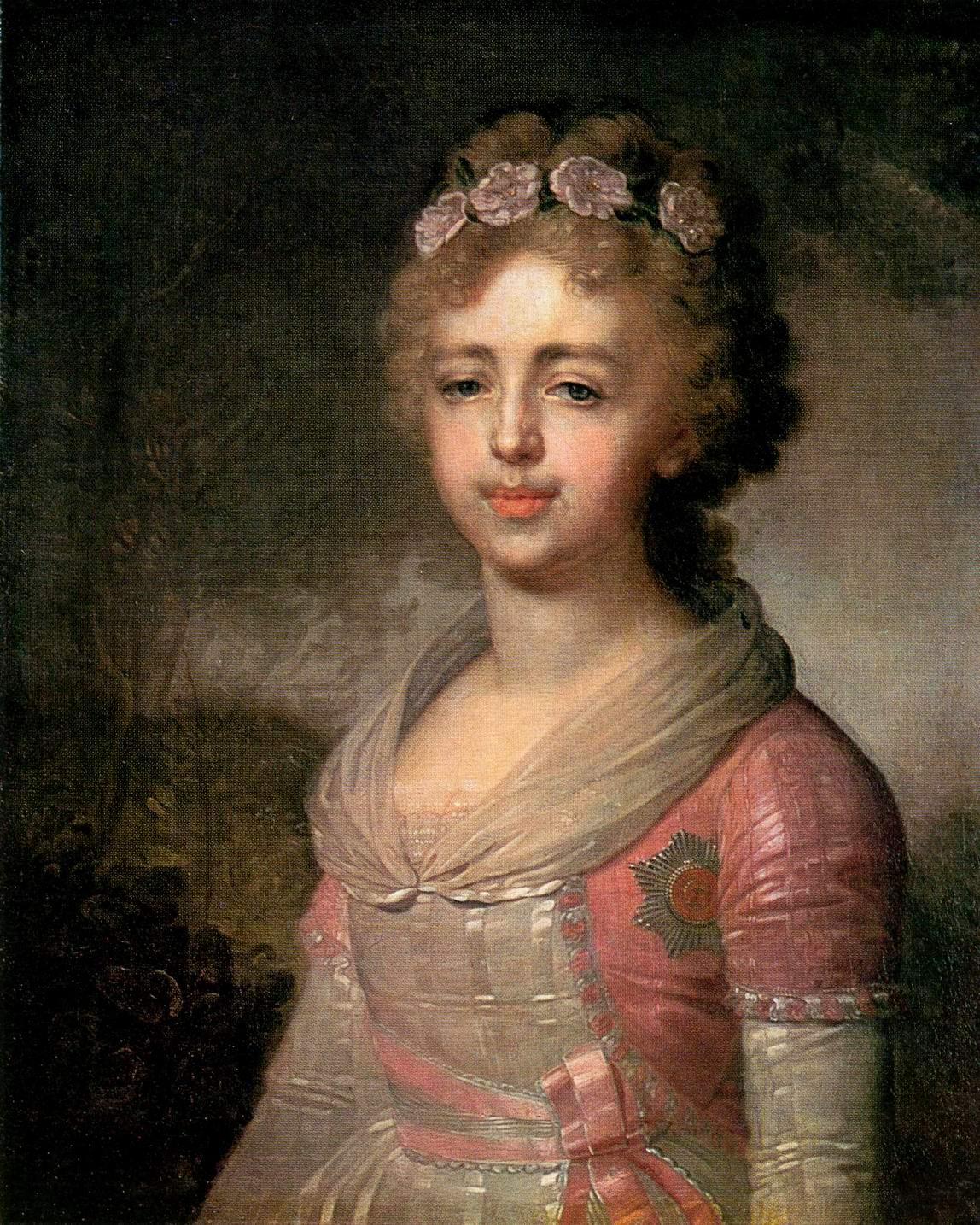 Портрет великой княжны Александры Павловны, Боровиковский Владимир Лукич