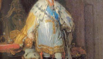 Портрет Павла I в белом далматике