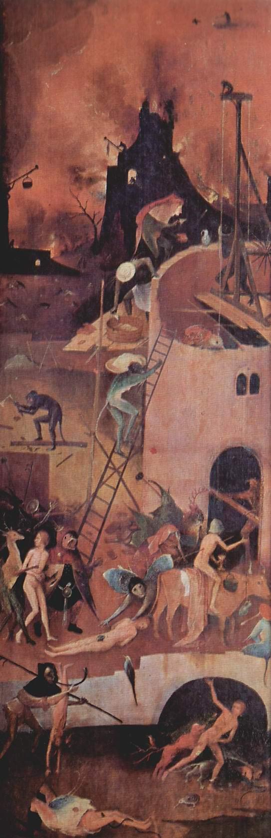 Воз сена, триптих, правая створка  Ад, Босх Иероним