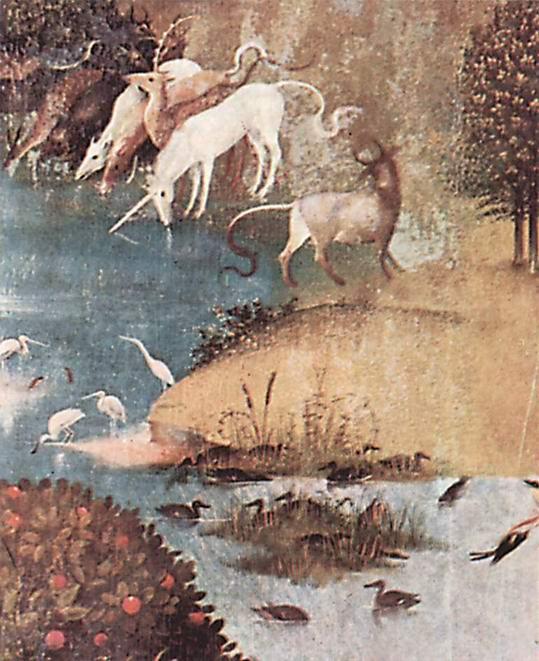 Сад земных наслаждений, левая створка  Творение., Босх Иероним