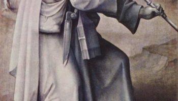 Триптих Страшного суда, левая наружняя створка  св. Иаков Компостельский