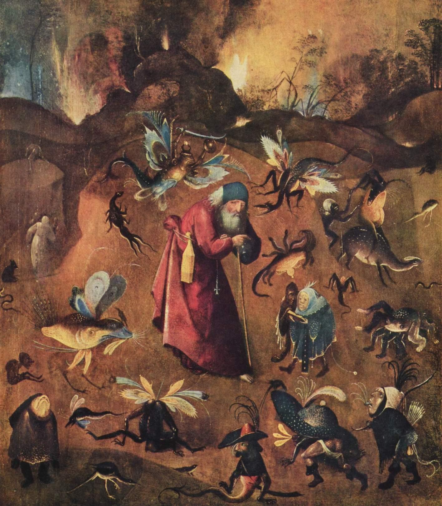 Искушение св. Антония, Босх Иероним