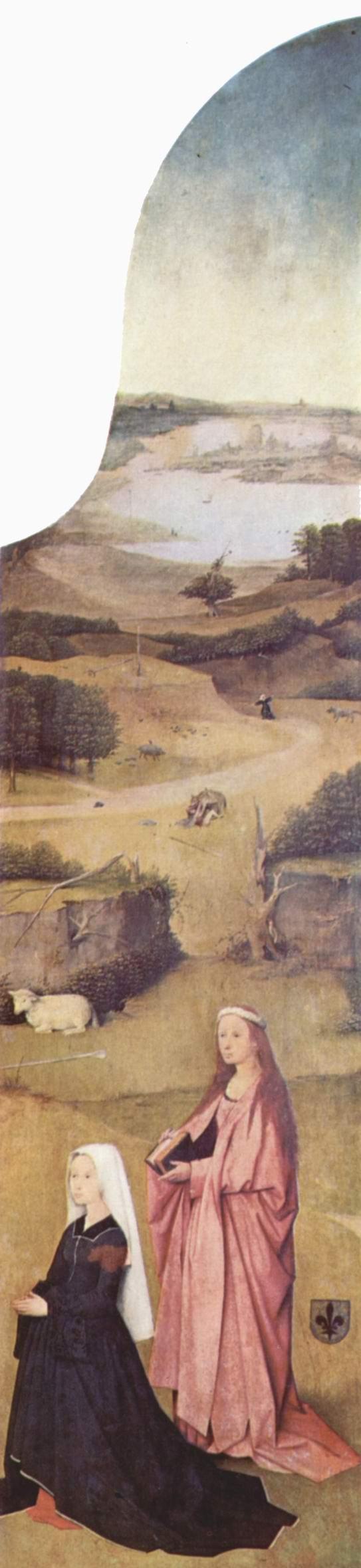Триптих св. Епифании, правая створка  св. Агнесса и коленопреклонённая дарительница, Босх Иероним