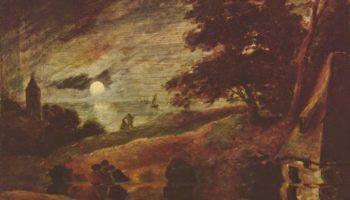 Пейзаж при лунном свете