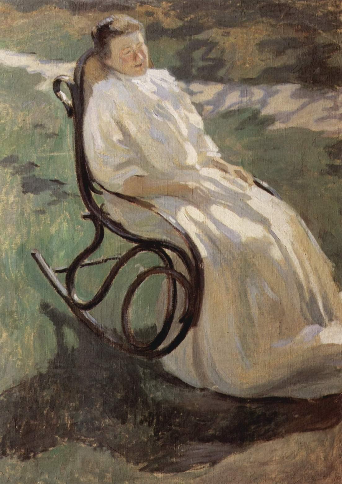 Дама в кресле-качалке, Борисов-Мусатов Виктор Эльпидифорович