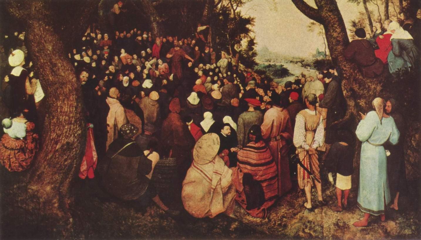 Иоанн Креститель, проповедующий покаяние, Брейгель Питер
