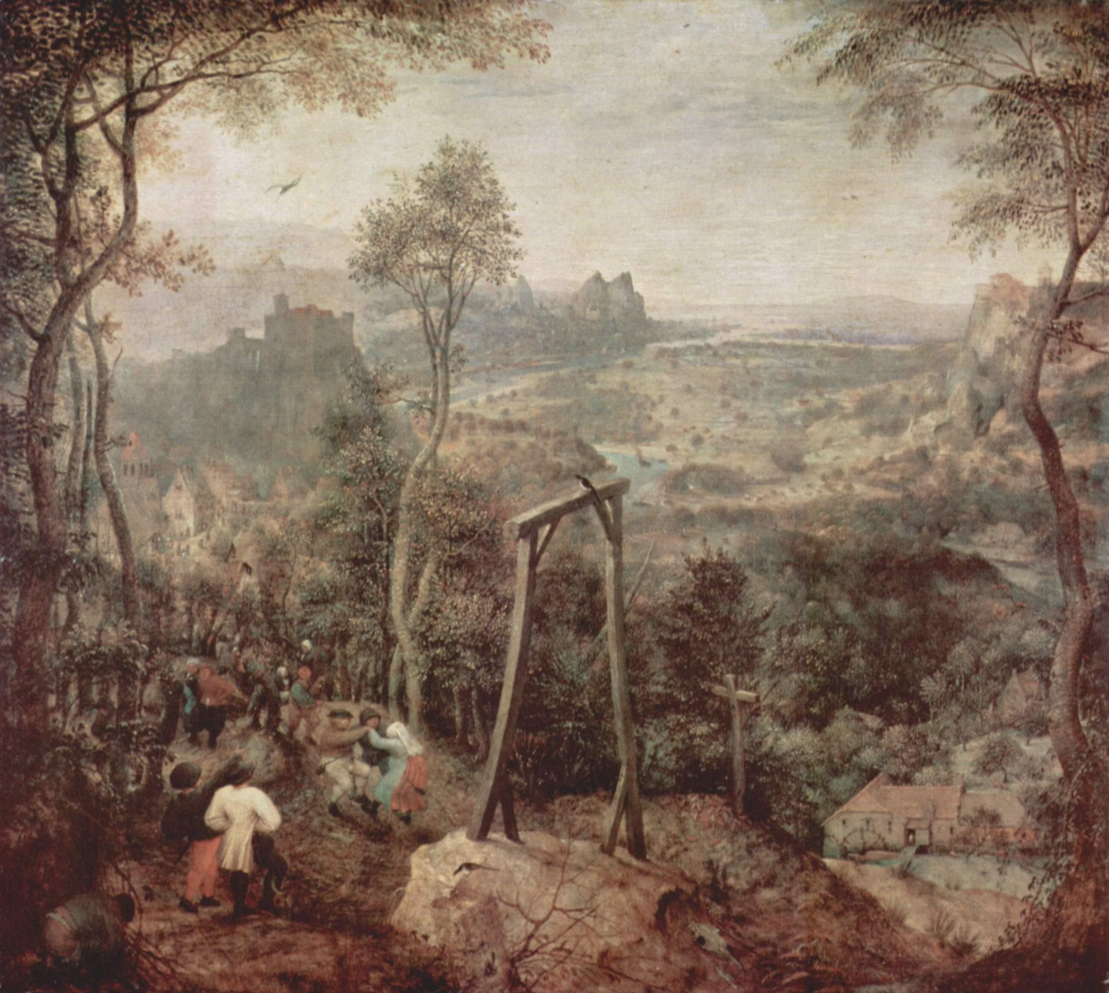 Пейзаж с виселицей (Танец под виселицей), Брейгель Питер